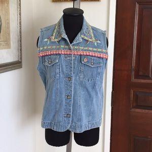 Vintage Bill Blass embroidered vest